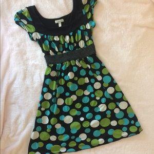 Tie back polka dot dress